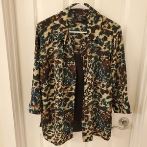 George Animal Print 2 in 1 Blouse • Size 16 / 1X